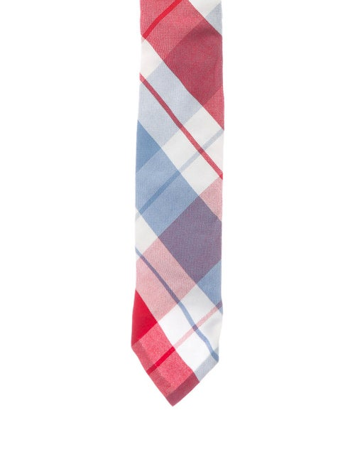 Thom Browne Woven Printed Tie red