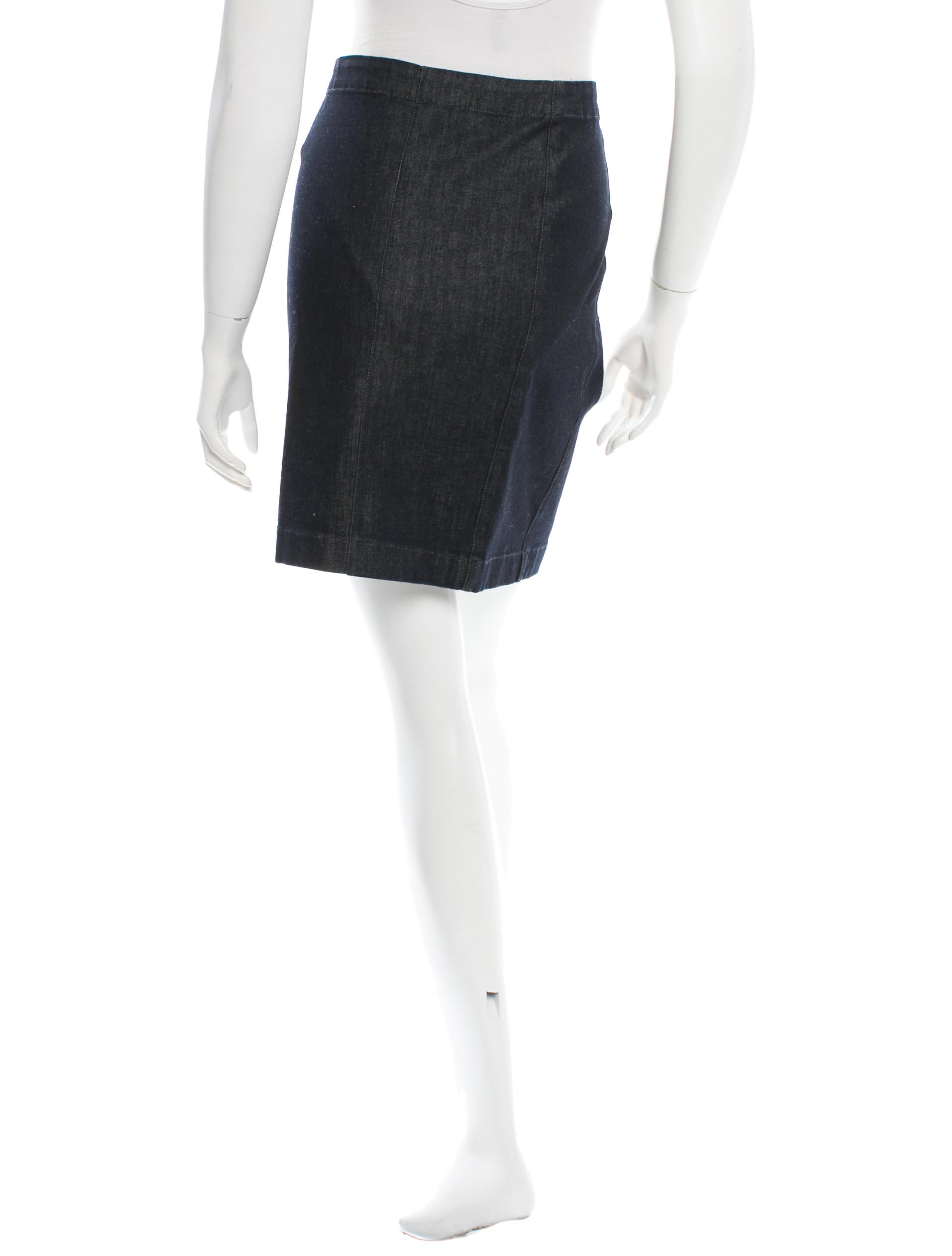 the row classic denim skirt clothing thr25347 the