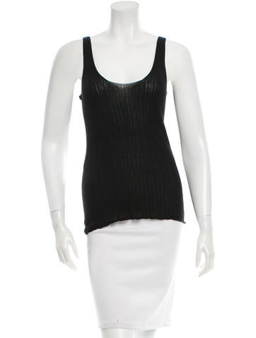 The Row Sleeveless Rib Knit Top None