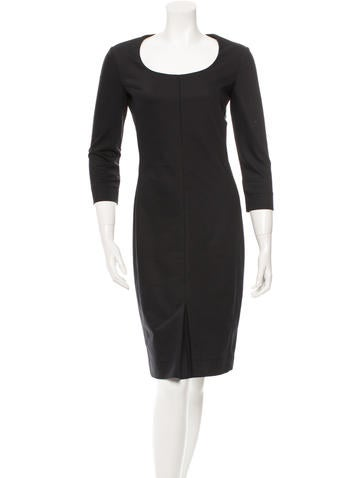 The Row Long Sleeve Sheath Dress None