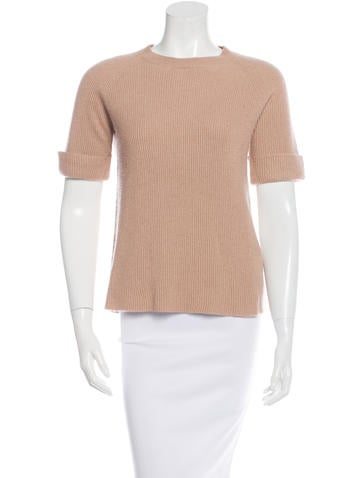 The Row Short Sleeve Cashmere Top None
