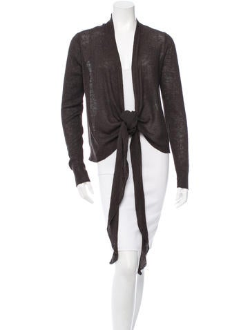 The Row Long Sleeve Open Knit Cardigan None