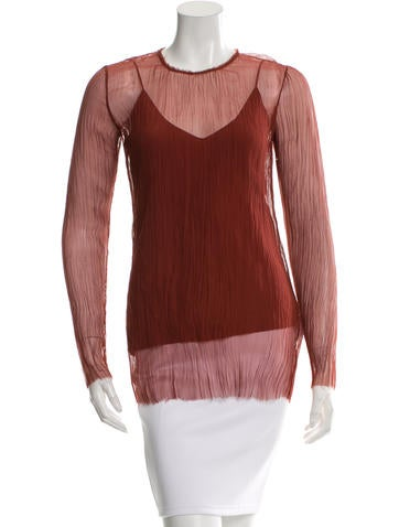 The Row Pleated Long Sleeve Top w/ Tags None