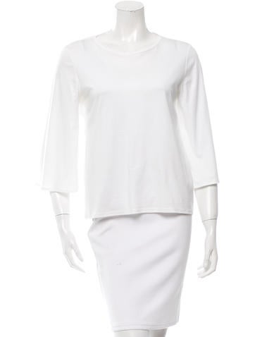 The Row Flared Scoop Neck Top None