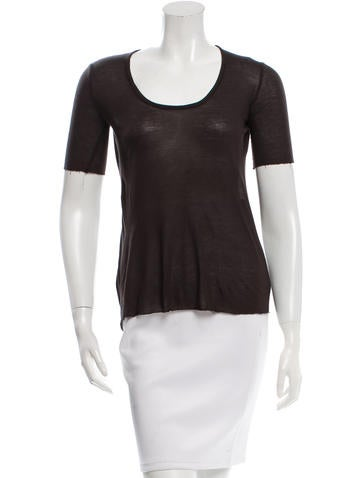 The Row Distressed Knit Top None