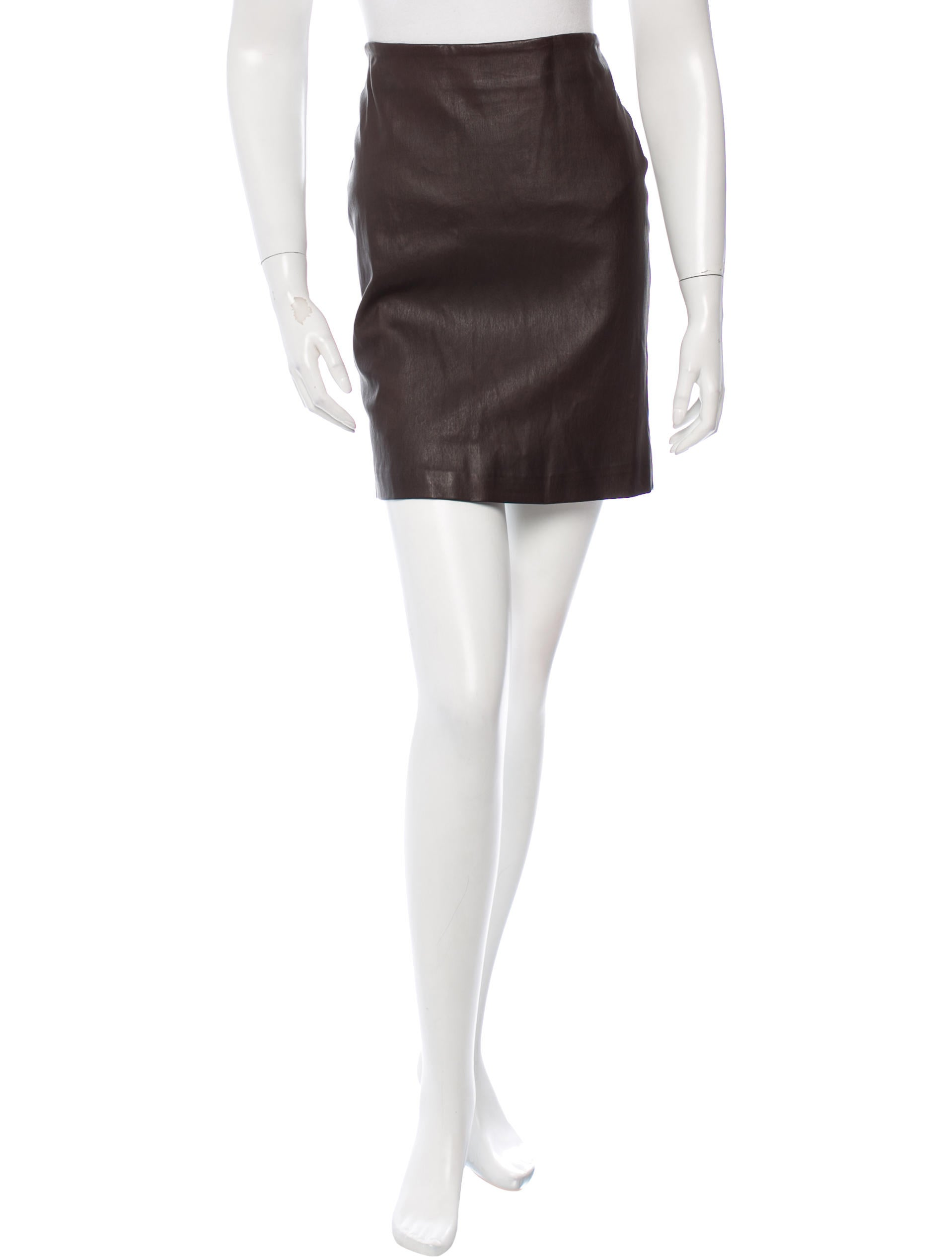 the row leather mini skirt w tags clothing thr28309
