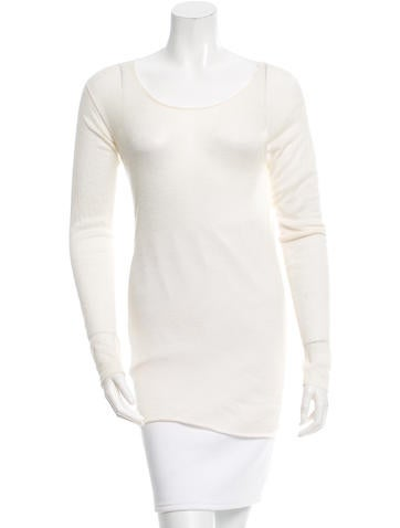 The Row Sheer Long Sleeve Top None
