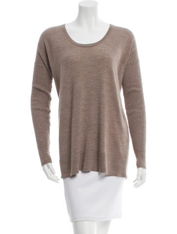 The Row Long Sleeve Rib Knit Top None
