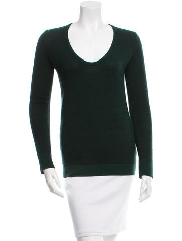 The Row Scoop Neck Knit Top None