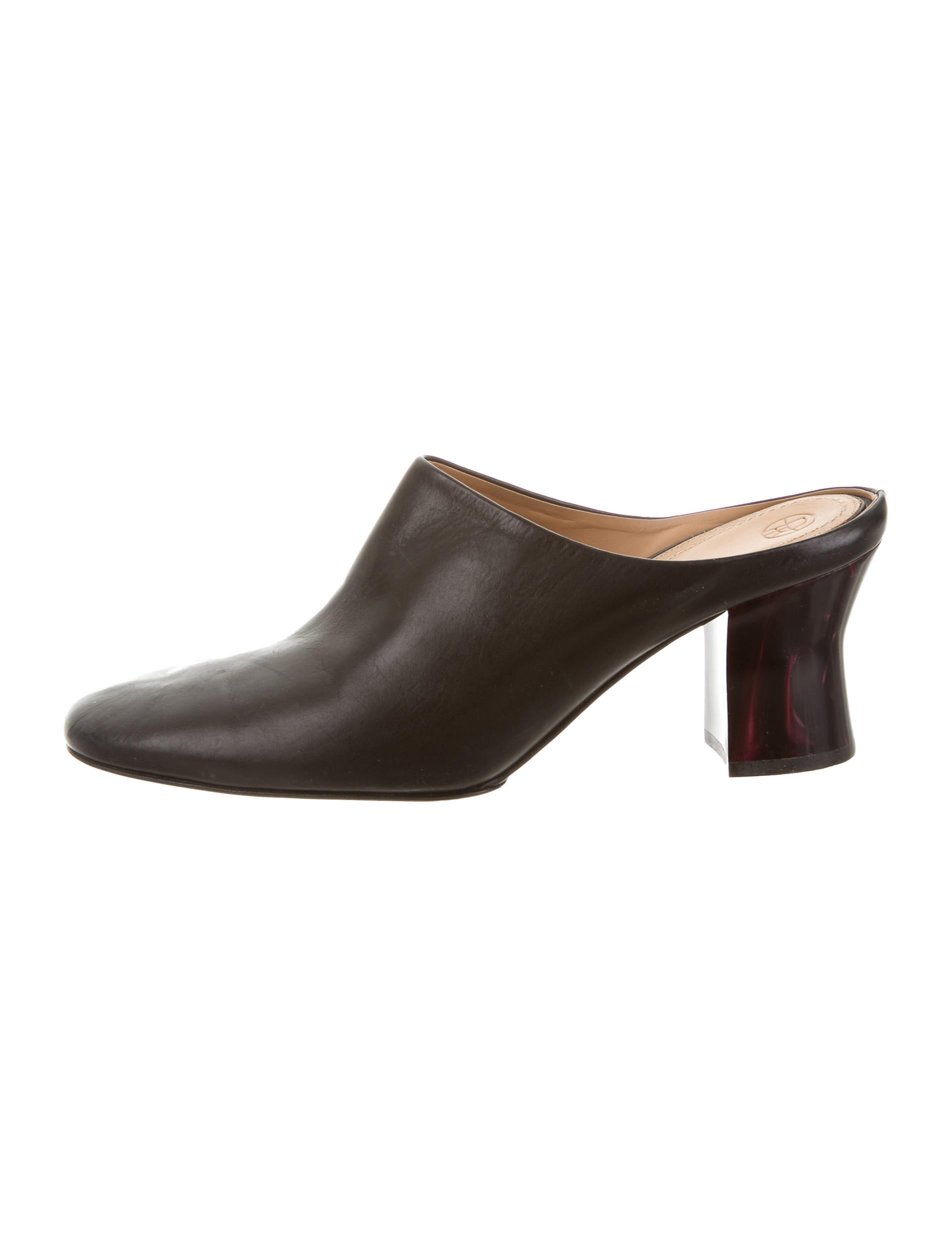 The Row Leather Round-Toe Mules cheap best prices 6rjqLYT