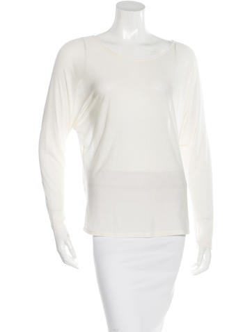 The Row Batwing Long Sleeve Top None