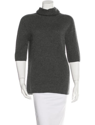 The Row Cashmere Turtleneck Top None