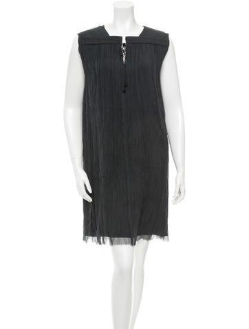 The Row Silk Crepe Shift Dress