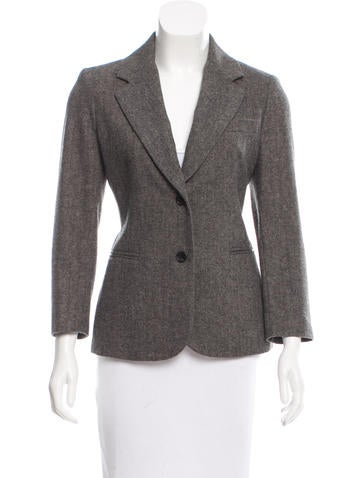 The Row Wool Herringbone Blazer