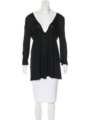 The Row Long Sleeve Scoop Neck Top None