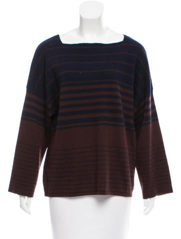 The Row Striped Knit Sweater None