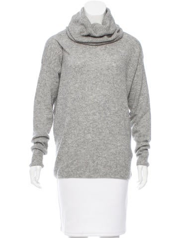 The Row Cashmere-Blend Turtleneck Sweater None