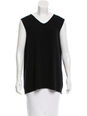 The Row Rib Knit Sleeveless Top None