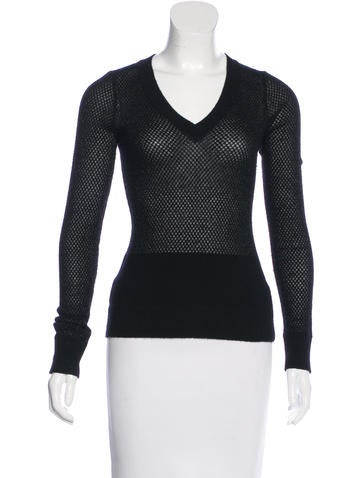 The Row Metallic Cashmere Sweater None