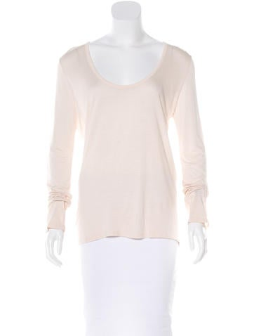 The Row Woven Long Sleeve Top None