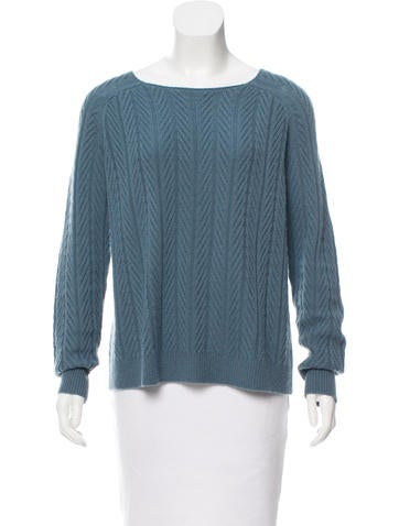 The Row Cashmere Cable Knit Sweater None