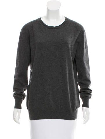 The Row RIb Knit Scoop Neck Sweater None