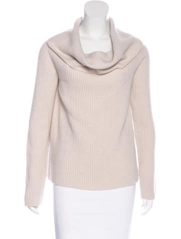The Row Cashmere Cowl Neck Sweater None