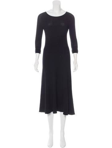 The Row Knit Midi Dress None