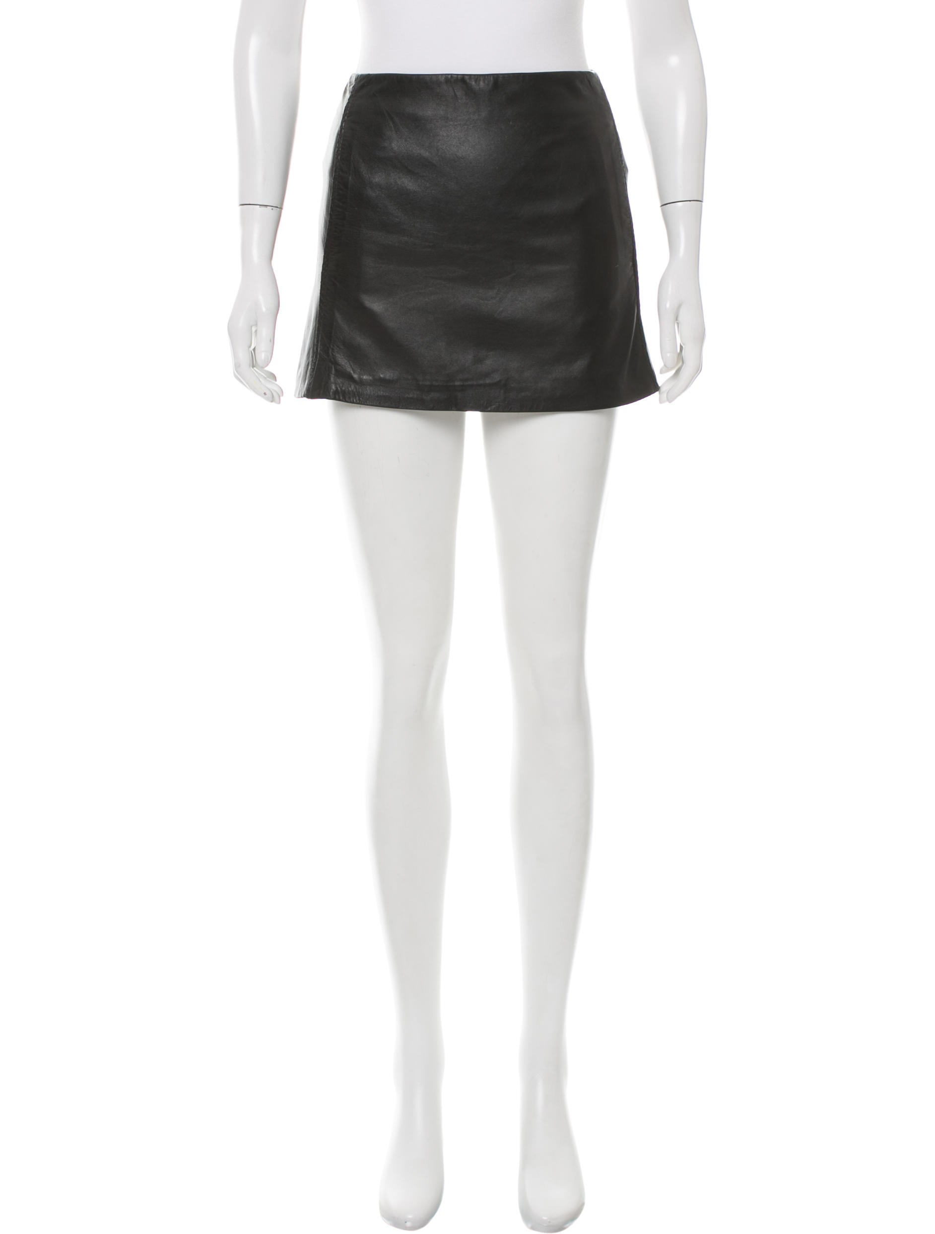 the row mini leather skirt clothing thr30550 the