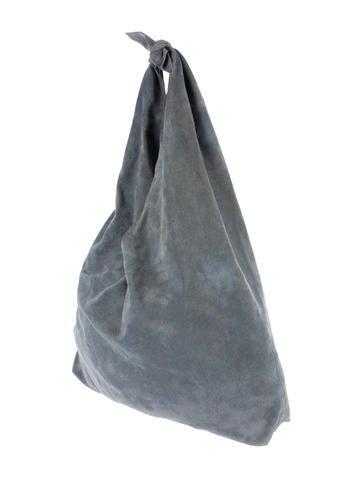 Knot Suede Shoulder Bag