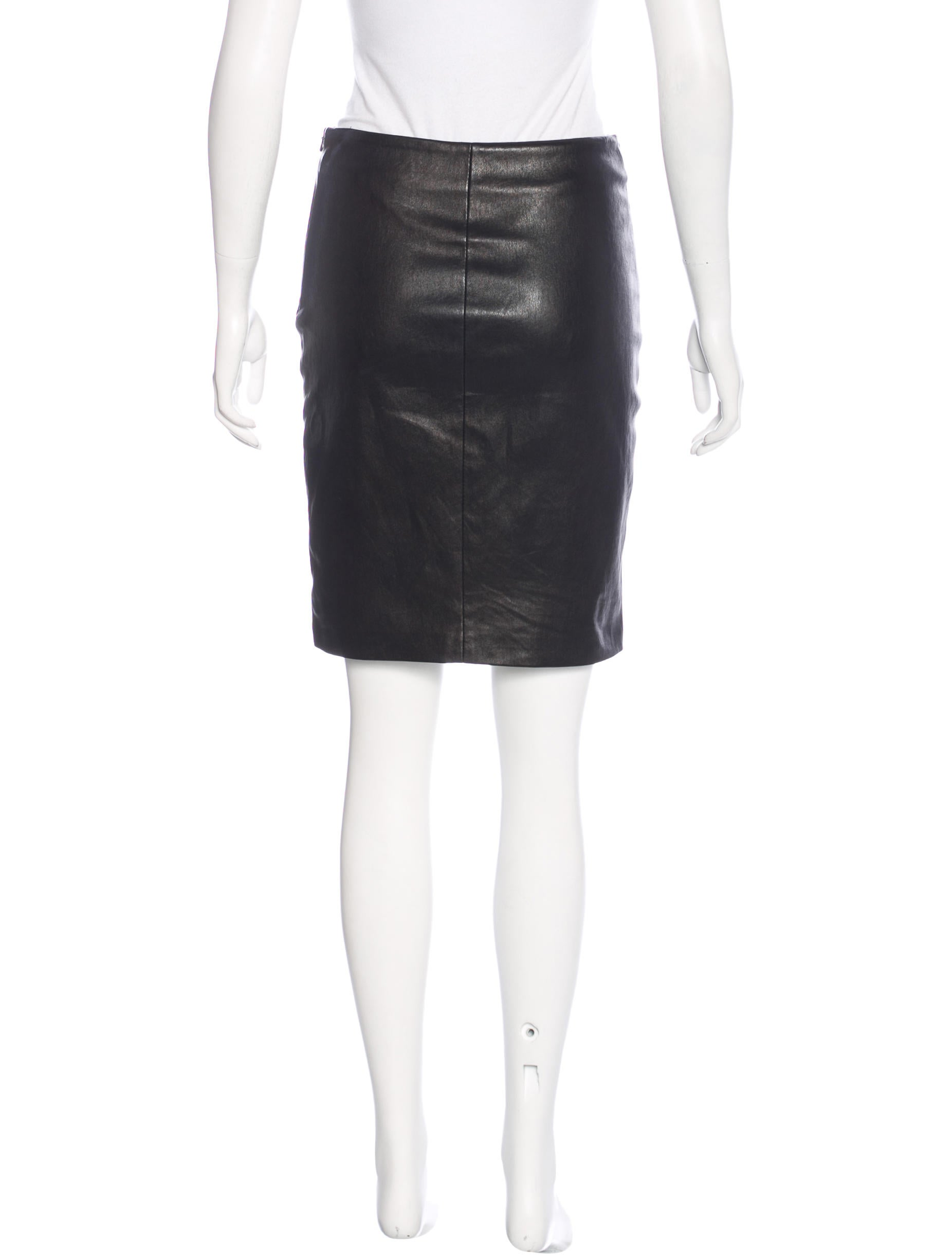 the row leather mini skirt skirts thr30670 the realreal