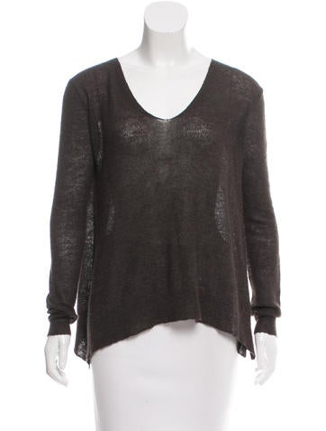 The Row Scoop Neck Knit Sweater None