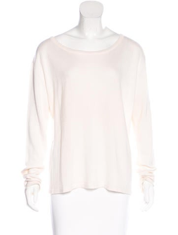 The Row Semi-Sheer Knit Sweater None