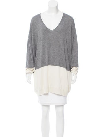 The Row Two-Tone Oversize Sweater None