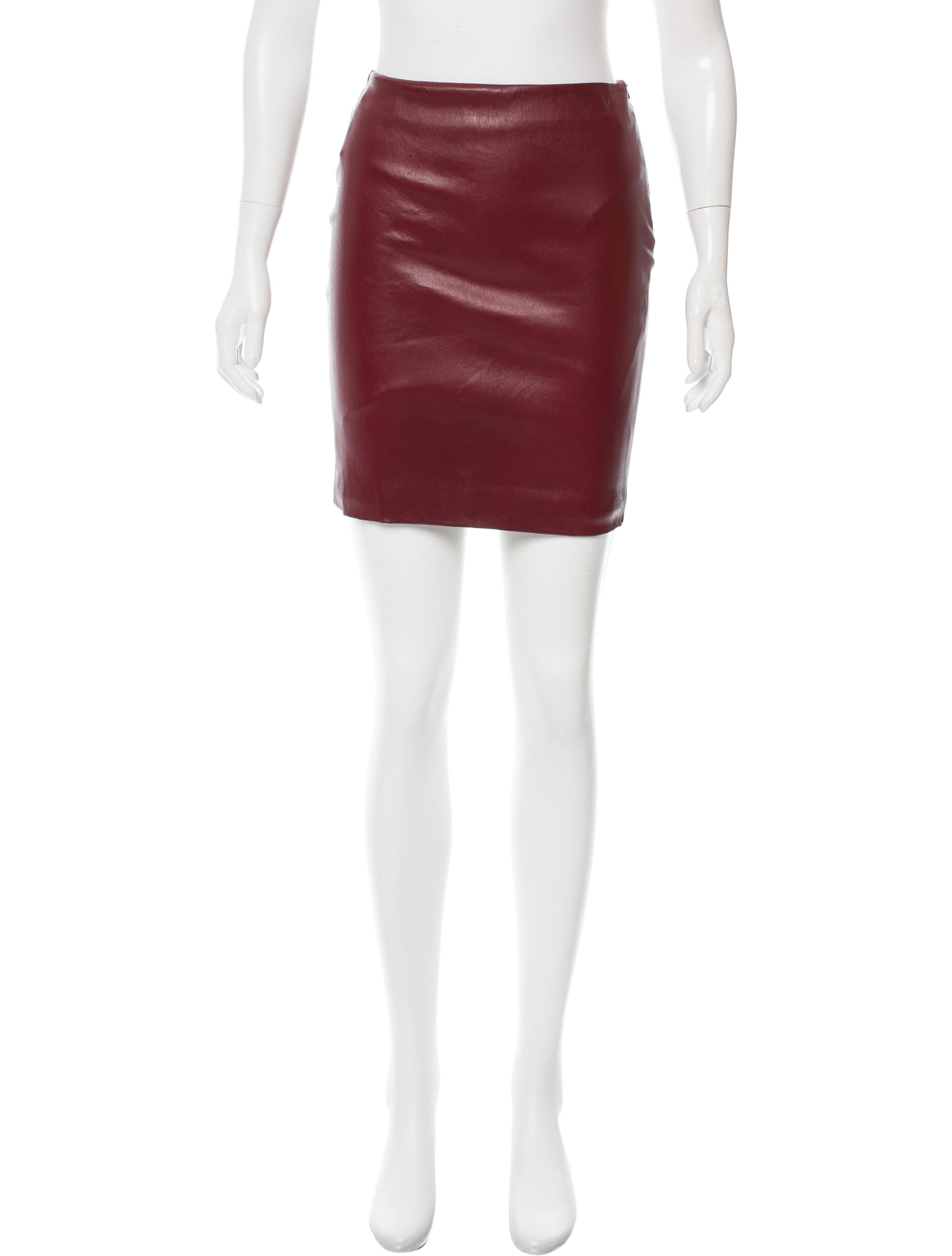 the row leather mini skirt clothing thr31685 the