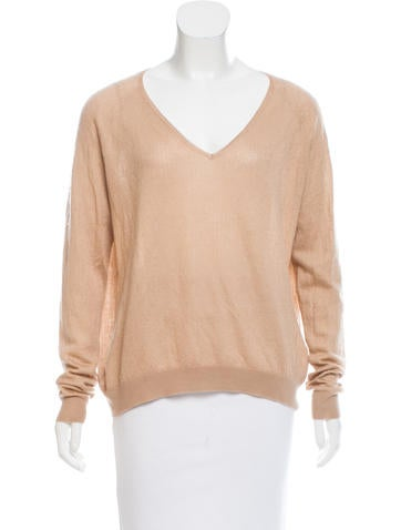 The Row Cashmere & Silk-Blend Knit Top None
