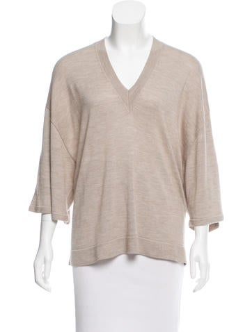 The Row V-Neck Kimono Sweater None