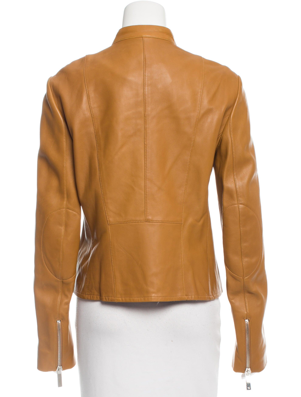 Mock leather jacket