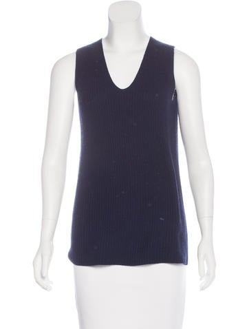 The Row Knit Sleeveless Top None