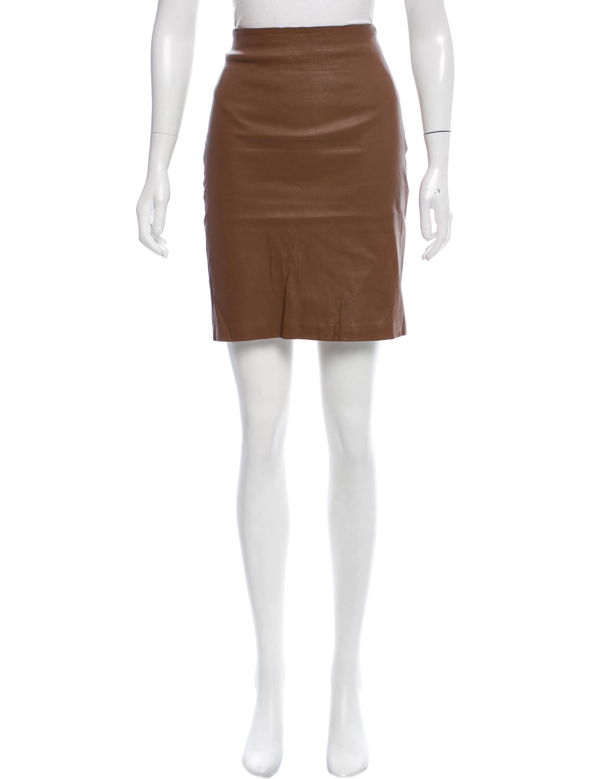 the row leather mini skirt clothing thr32707 the