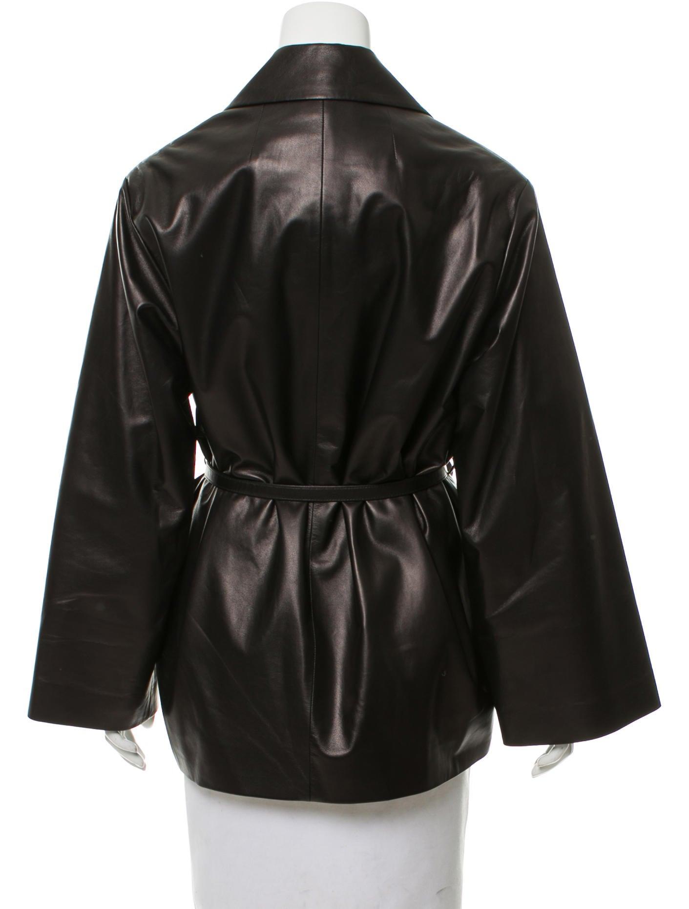 Leather wrap jacket