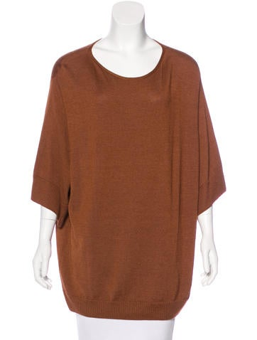 The Row Dolman Sleeve Knit Sweater None