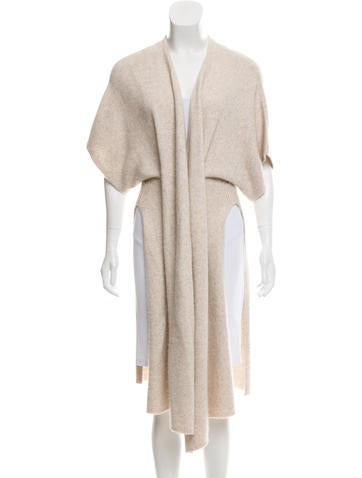 The Row Silk & Cashmere-Blend Long Cardigan None