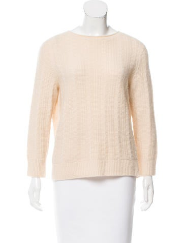 The Row Long Sleeve Cashmere Sweater None