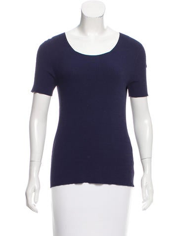 The Row Knit Scoop Neck Top None