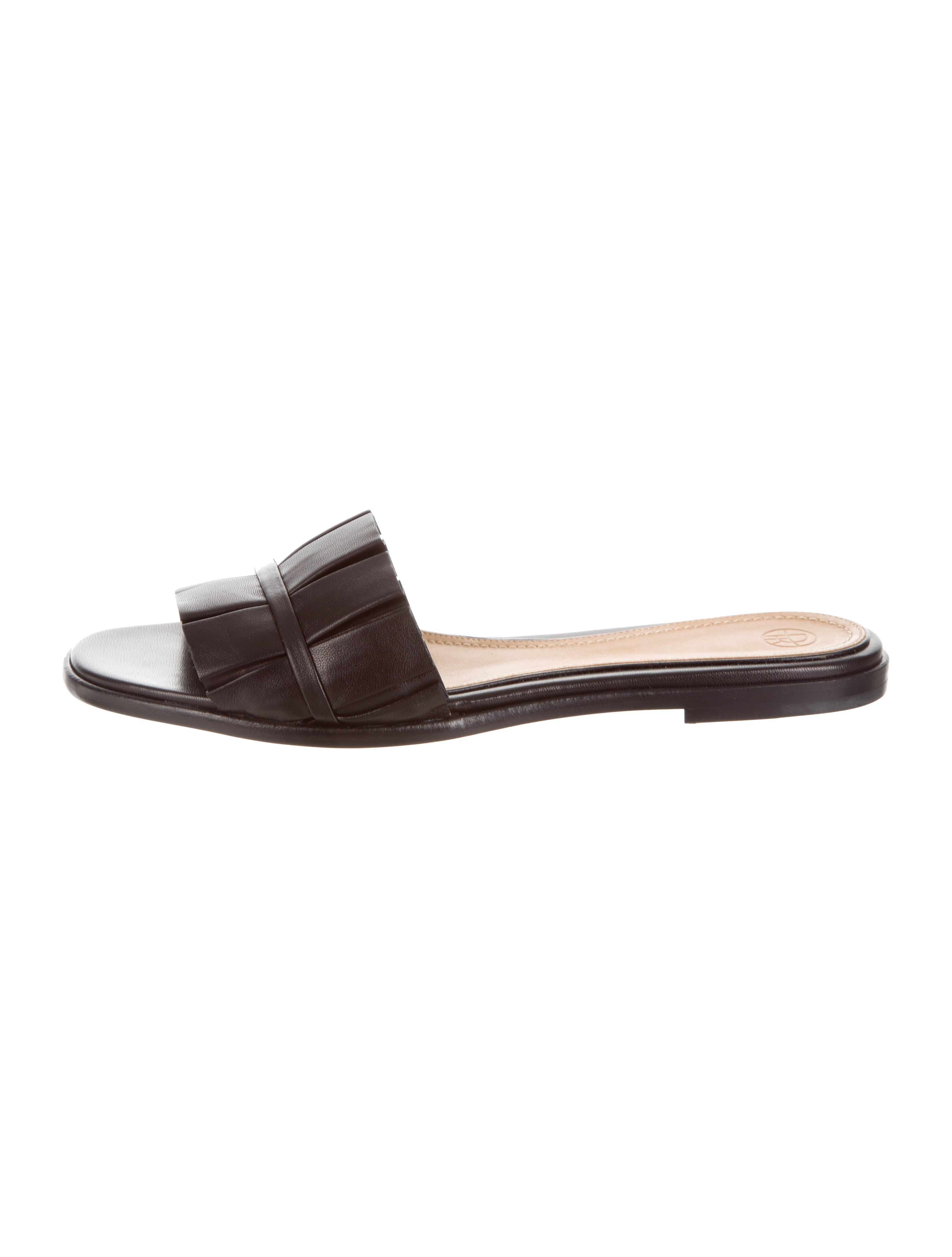 The Row Emma leather sandals P318WHX7ok