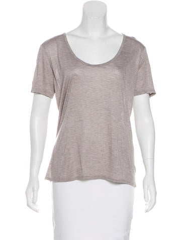 The Row Knit Short Sleeve Top None