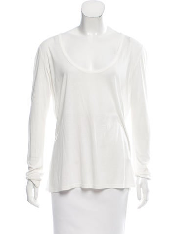 The Row Casual Scoop Neck Top None