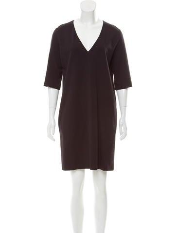 The Row Short Sleeve Mini Dress None
