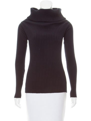 The Row Rib Knit Turtleneck Sweater None